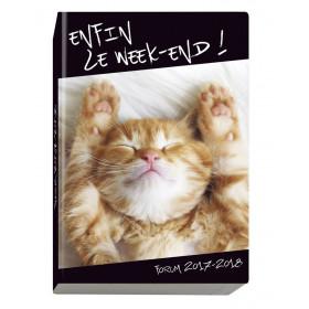 Agenda scolaire EXACOMPTA 12x17 cm - forum Funny Pets Chat - 1 jour par page idéal collège / lycée