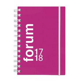 Agenda scolaire EXACOMPTA 12x17 cm - forum Sporty rose spiralé avec élastique de fermeture - 1 jour par page idéal collège / lyc
