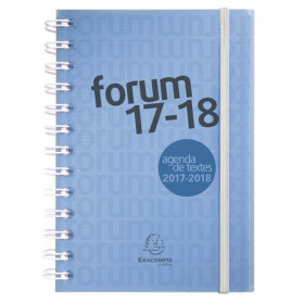 Agenda EXACOMPTA Forum Linicolor Wire-o avec élastique de fermeture bleu - 170x130x22 mm