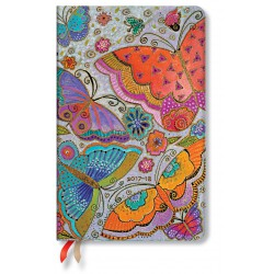 Agenda PAPERBLANKS (Version ANGLAISE) Papillons - Maxi - 135×210mm - 1 semaine sur 2 pages vertical