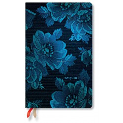 Agenda PAPERBLANKS (Version ANGLAISE) Muse Bleue - Maxi - 135×210mm - 1 semaine sur 2 pages vertical