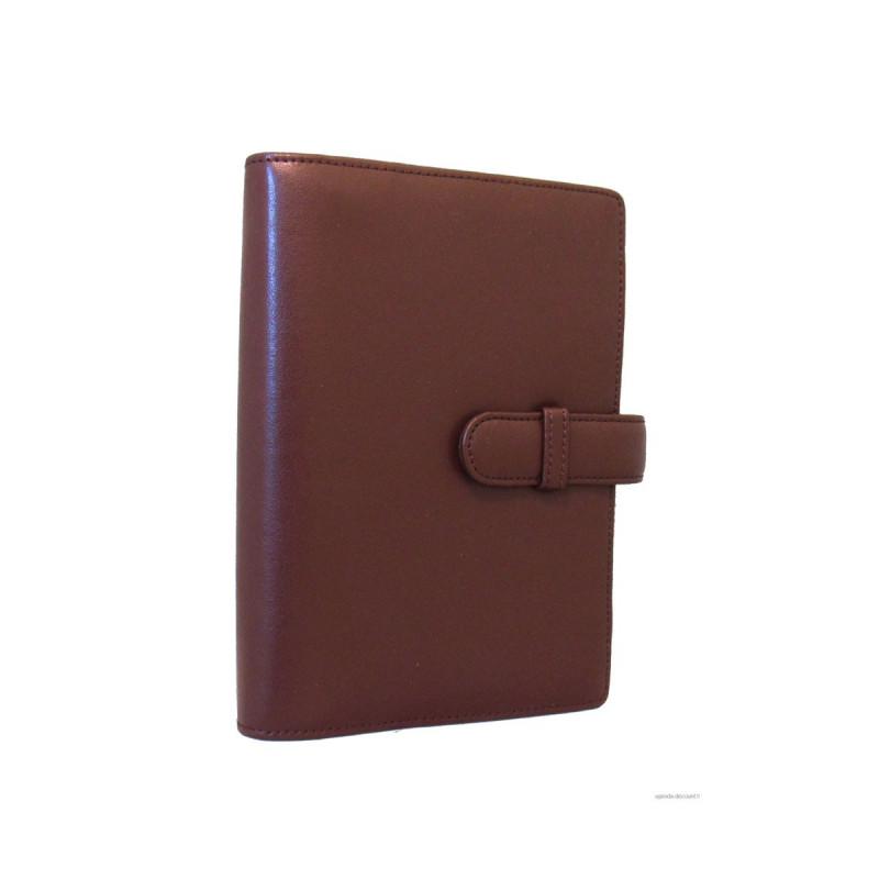 Agenda organiseur EXACOMPTA Exatime 17 cuir lisse Léman noir - 190 x 150 mm 0df808944ab