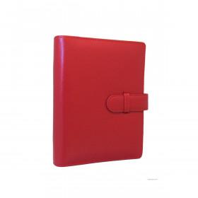 Organiseur EXACOMPTA Exatime 17 cuir lisse Léman - 19x15cm - ROUGE