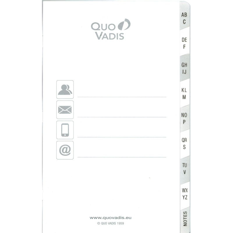 Répertoire 16x24cm pour agenda QUOVADIS - 32 pages