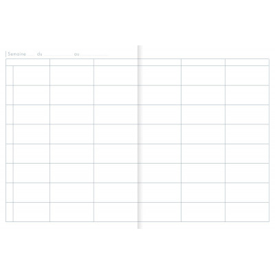 Agenda de bord CLAIRFONTAINE - 21x29,7 cm - 6 colonnes (36 cases/semaine) rembordé rigide 144 pages