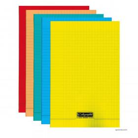 Cahier A4 CALLIGRAPHE - 21x29,7cm 96 pages - grands carreaux (COULEURS ALEATOIRES)