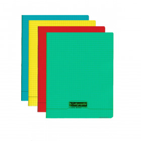 Cahier A5 CALLIGRAPHE - 17x22cm 96 pages - 5x5mm (COULEURS ALEATOIRES)