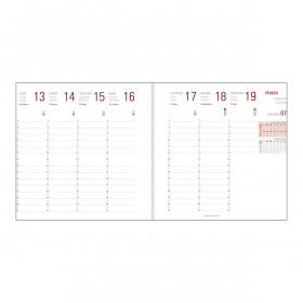 Recharge agenda OBERTHUR Contemporain 16 - 16x16cm - 1 semaine sur 2 pages