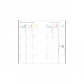 Recharge agenda OBERTHUR Féminin 16 - 8,9x16,5cm - 1 semaine sur 2 pages