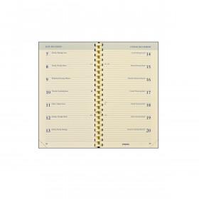 Recharge agenda BREPOLS 18M spirale - 9x16cm - 1 semaine sur 2 pages