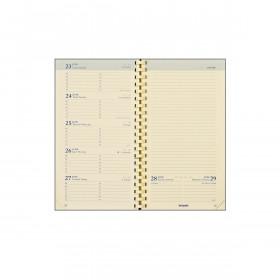 Recharge pour agenda BREPOLS Notaplan à spirales - 9x16cm - 1 semaine sur 2 pages