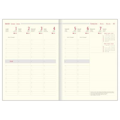 Recharge agenda OBERTHUR Classique 30 - 21x29,7cm - 1 semaine sur 2 pages