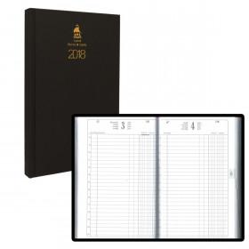 Agenda ABL Carré 14x22 cm 1 jour par page EUROS CENTIMES - NOIR