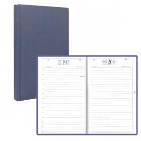 Agenda BREPOLS format carré 13.3 x 21 cm - Règlure travers - Couverture noire - 1 jour par page
