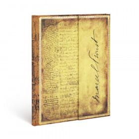 Carnet PAPERBLANKS Non ligné - Ultra 180×230mm - Les Manuscrits Estampés série Proust, À la Recherche du Temps Perdu
