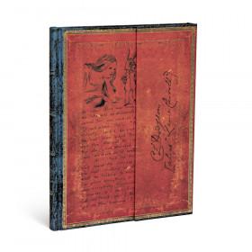 Carnet PAPERBLANKS Ligné - Ultra 180×230mm - Les Manuscrits Estampés série Lewis Carroll, Alice au Pays des Merveilles
