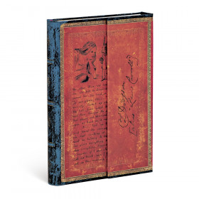 Carnet PAPERBLANKS Ligné - Mini 100×140mm - Les Manuscrits Estampés série Lewis Carroll, Alice au Pays des Merveilles