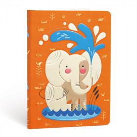 Carnet PAPERBLANKS Non ligné - Midi 120×170mm - Les Amis Animaux de Tracy Walker série Le Bébé Éléphant