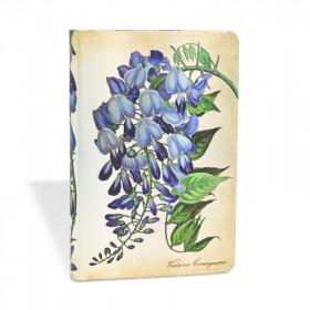 Carnet PAPERBLANKS ligné - Mini 95×140mm - Plantes Peintes série Glycine en Fleurs