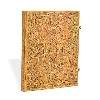 Carnet Ultra PAPERBLANKS série Les Manuscrits Estampés modèle Marqueterie d'Or