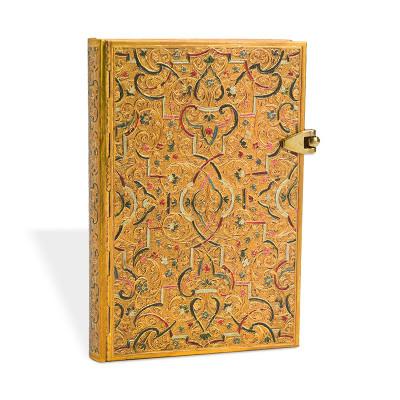 Carnet Mini PAPERBLANKS série Les Manuscrits Estampés modèle Marqueterie d'Or