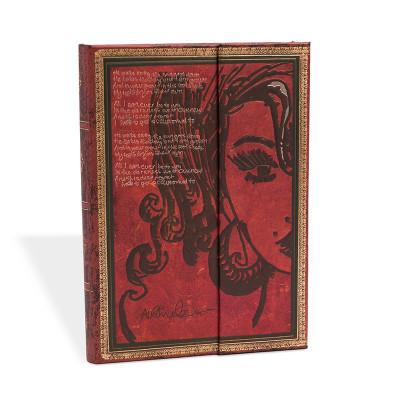 Carnet Midi PAPERBLANKS série Les Manuscrits Estampés modèle Amy Winehouse, Tears Dry