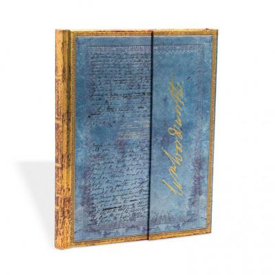 Carnet PAPERBLANKS Les Manuscrits Estampés Lettre de Wordsworth, Citant «Daffodils» format Midi - PB25719
