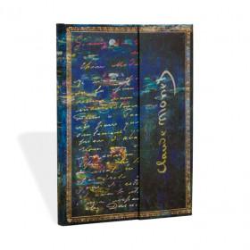 Carnet PAPERBLANKS Ligné - Ultra 180x230 mm - modèle Les Manuscrits Estampés série Monet (Nénuphars), LettreàMorisot