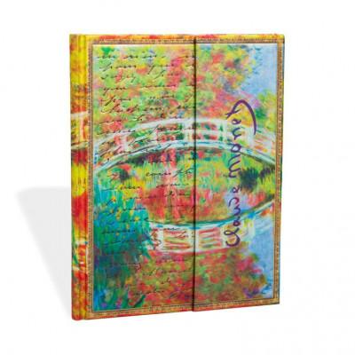 Carnet PAPERBLANKS Non Ligné - Ultra 180x230 mm - modèle Les Manuscrits Estampés série Monet (Le pont), LettreàMorisot