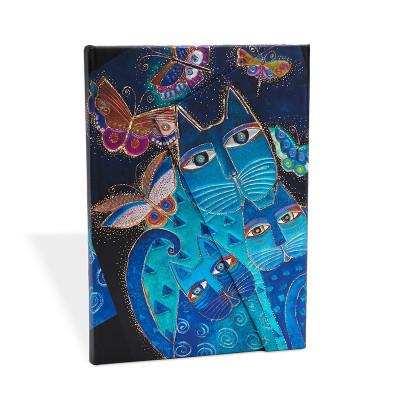Carnet Midi PAPERBLANKS série Félins Fantastiques modèle Chats Bleus et Papillons