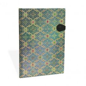 Carnet PAPERBLANKS non ligné Bleu - Splendeur de la Soie - Grand 210 × 300mm - 128pages