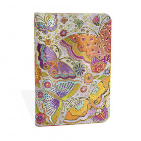 Agenda PAPERBLANKS Papillons - Mini - 95×140mm - 1 semaine sur 2 pages Vertical