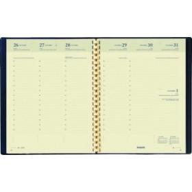 Agenda BREPOLS Timing - 17,2x22cm - 1 semaine sur 2 pages couverture noir Palermo