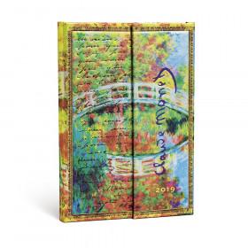Agenda PAPERBLANKS Monet (Le Pont), LettreàMorisot - Mini - 100×140mm - 1 semaine sur 2 pages Vertical
