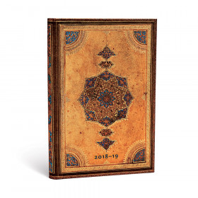 Agenda (version ANGLAISE) PAPERBLANKS 2019 Safavid - Maxi - 135×210mm - 1 semaine sur 2 pages TEA