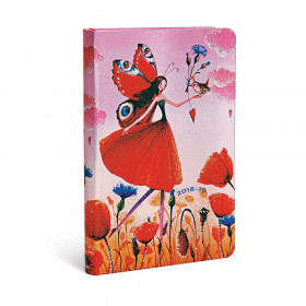 Agenda (version ANGLAISE) PAPERBLANKS 2019 Poppy Field - Mini - 95×140mm - 1 semaine sur 2 pages Horizontal