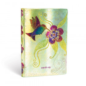 Agenda (version ANGLAISE) PAPERBLANKS 2019 Hummingbird - Mini - 95×140mm - 1 semaine sur 2 pages Horizontal