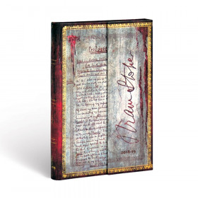 Agenda (version ANGLAISE) PAPERBLANKS 2019 Bram Stoker, Dracula - Mini - 100×140mm - 1 semaine sur 2 pages Horizontal