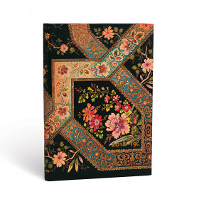 Agenda (version ANGLAISE) PAPERBLANKS 2019 Filigree Floral Ebony - Midi - 130×180mm - 1 semaine sur 2 pages Horizontal