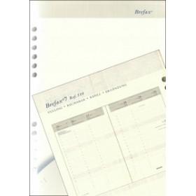 Recharge complète BREPOLS pour agenda Brefax 7 - 14,5x21cm - 1 semaine sur 2 pages