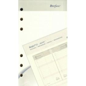 Recharge pour agenda BREPOLS Brefax 11 - 9,5x17cm - 1 jour par page