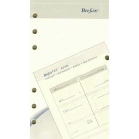 Recharge complète BREPOLS pour agenda Brefax 17 - 9,5x17cm - 1 semaine sur 2 pages
