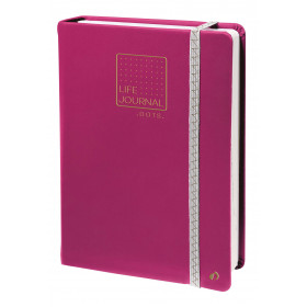 Carnet LIFE JOURNAL QUOVADIS DOTS 15x21cm - Prune