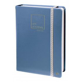 Carnet LIFE JOURNAL QUOVADIS DOTS 15x21cm - Bleu gris
