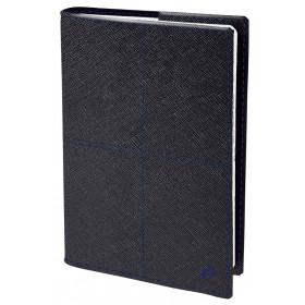 Agenda QUOVADIS AFFAIRES PRESTIGE Verona Noir - 10x15cm - 1 semaine sur 2 pages Verticale
