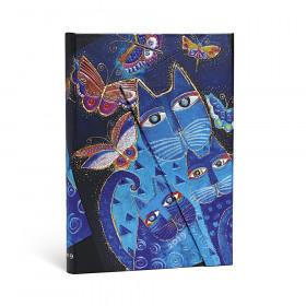 Agenda PAPERBLANKS Chats Bleus et Papillons - Midi - 130×180mm - 1 semaine sur 2 pages Vertical