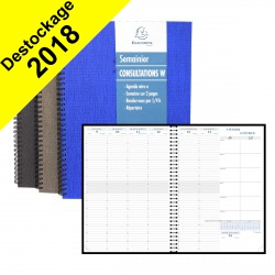 DESTOCKAGE-Agenda EXACOMPTA Consultation W Carte Napura - 297x210mm - 1 semaine sur 2 pages - spirale (COLORIS ALEATOIRES)