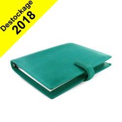 DESTOCKAGE-Organiseur FILOFAX A5 23,4x20,3cm LOCKWOOD AQUA en cuir buffle - 1 semaine sur 2 pages VERTICAL