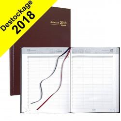 Agenda journalier BREPOLS Bremax 1 - (couverture bordeaux) - 1 jour par page 21 x 29 cm année civile