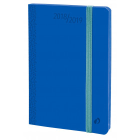Agenda QUOVADIS HORIZONTAL 24 SD Velvet - Bleu horizon - 16x24cm - 1 semaine sur 2 pages